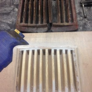 New grate pattern being made in Beech